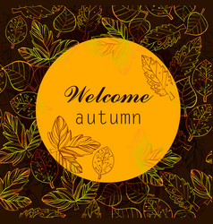 Autumn color stylize template with vector