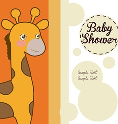 Baby shower card design vector image