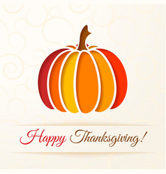 Beige background with cut out colorful pumpkin vector