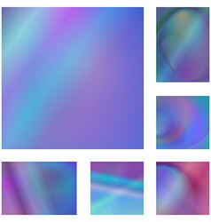 Blue and purple abstract background set vector