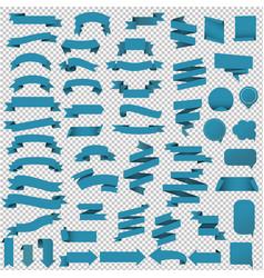 blue web ribbon set- vector image