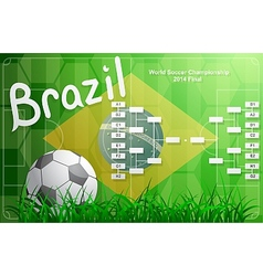 Brazil FIFA Championship tournament chart vector image vector image