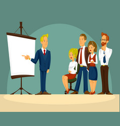 cartoon of a smart businessman vector image