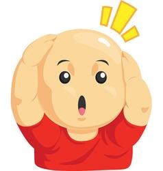 Cartoon of funny bald kid vector