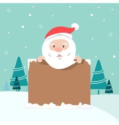 Christmas of santa holding board vector