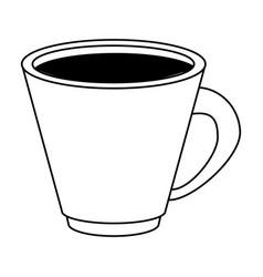 Coffee beverage in mug icon imag vector