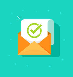 email confirmation flat vector image