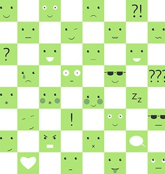 Faces and symbols pattern vector image vector image