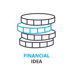 financial idea concept outline icon linear sign vector image vector image