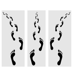 footsteps 2 vector image