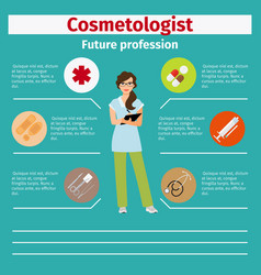 future profession cosmetologist infographic vector image vector image