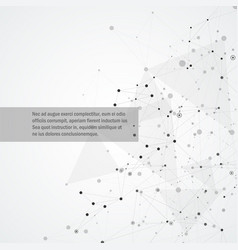 geometric background with connected abstract vector image