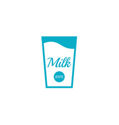 Glass bottle of milk vector
