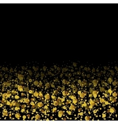 Golden glitter shiny particles abstract background vector