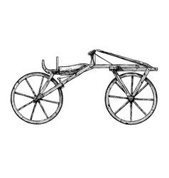 hand drawn of bicycle vector image vector image