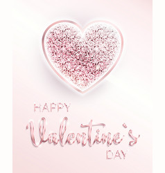 happy valentines day romantic design card vector image vector image