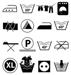 Laundry icons set vector image vector image