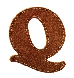 Leather textured letter Q vector image vector image