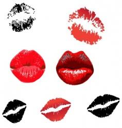 lips print vector image