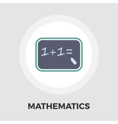 Mathematics icon flat vector image vector image
