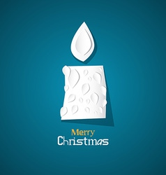 Merry Christmas Theme - Burning Candle Made from vector image