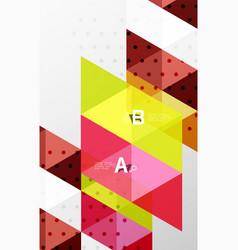 minimalistic triangle design vector image