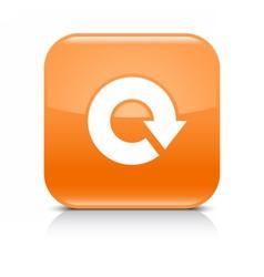Orange arrow repeat reload refresh rotation sign vector