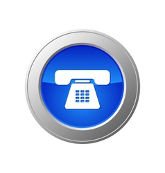 phone button vector image