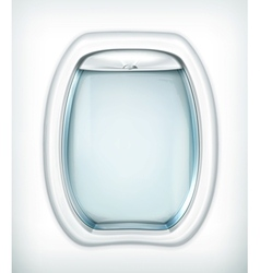Porthole transparent glass vector