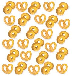 pretzel pattern background on vector image