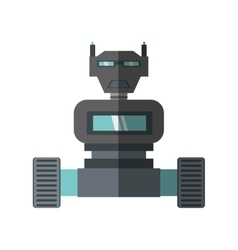 Robot machine science technology shadow vector