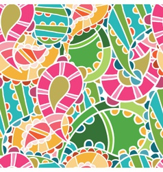 seamless pattern with bright cucumbers vector image vector image
