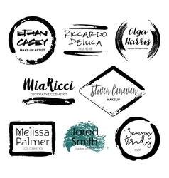 Set of makeup artist design logo templates vector
