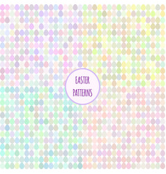 set of seamless easter abstract patterns vector image