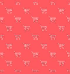 Shopping cart seamless pattern vector