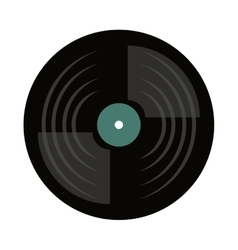 vinyl disc isolated icon vector image
