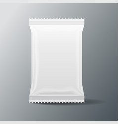 white blank food bag packaging 3 d vector image