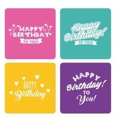 Happy birthday celebration card icon vector
