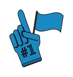 Glove of number one design vector