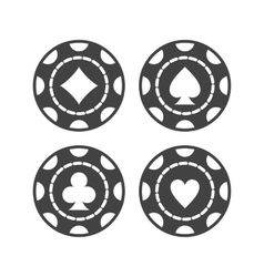 Casino chips vector