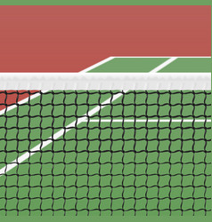 Tennis court vector
