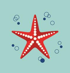 flat marine icon vector image