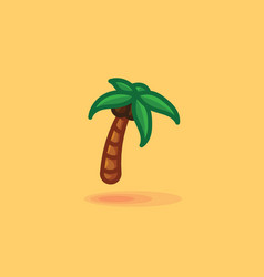Palm isolated icon of a palm vector