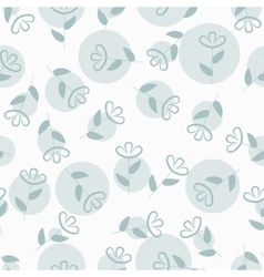 Simple floral seamless pattern with spots vector