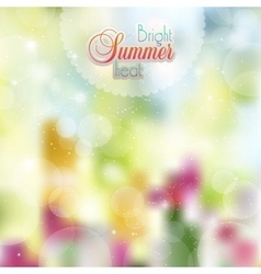 Summer sunny background of flowers vector