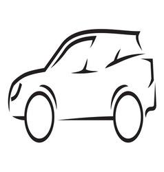 Car outline2 resize vector image