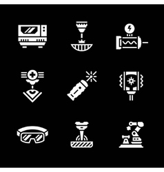 Set icons of laser vector image