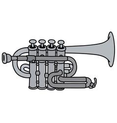 Classic concert trumpet vector