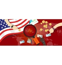 america usa united states crisis down problem vector image