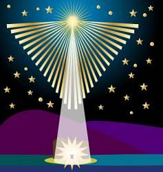 Angel star vector